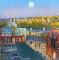 Picture of the Week: <p> The low Autumn sun reflects light in the windows of Park Hill flats and the full moon rises.</p><p></p><p>Just a reminder of my open studio this weekend at Persistence works, 21 Brown St, S1 2BS, 11am -4pm satsun.......free Jaffa cakes ?!</p>