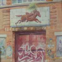 Picture of the Week: <p> The former works of the reowned Stokes paint factory lies dormant on Little London Road. The ceramic tiled frieze of a horse and rider is slowly decaying, with graffiti on the door below.</p>