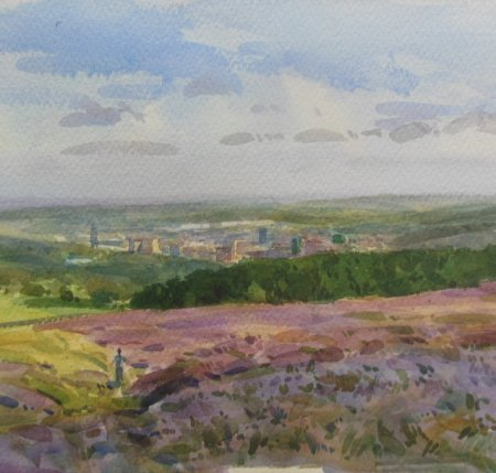 Picture of the Week: <p> The Heather is in bloom above Ringinglow. Looking down on the City one gets a stunning view. Birds and bees abound, grouse, swallows and buzzards.</p>