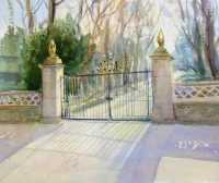 Picture of the Week: <p> The lower gates of Norfolk Park cast shadows from the Spring sunshine.</p>