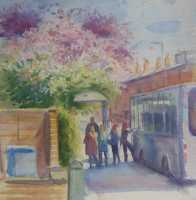 Picture of the Week: <p> Cherry blossoms overhang my local bus stop on Abbeydale Road adding colour to an otherwise drab bit of road.</p>