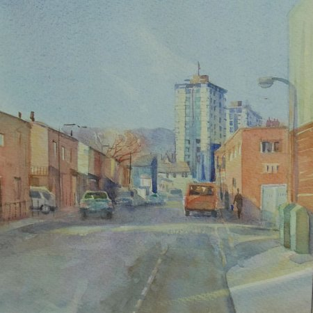 Picture of the Week: <p>Hill Street, off Bramall Lane. A winters view just after the rain, with low sun and long shadows.</p>