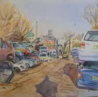 Picture of the Week: <p>Standing in the yard of Heeley auto breakers, one can see the St Pauls tower in the distance. This subject was full of interesting shapes and one can see the shadow of the artist painting if you look carefully. My thanks to Duncan of KR Autos who let me stand in his frosty yard on Tuesday.</p><p>There have been a few problems with the website and images are not appearing in the e mail. Please let me know if this happens to you. Thanks.</p>