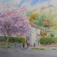 Picture of the Week: <p>Carterknowle Road is pink with Cherry Blossom and the postman delivers mail in the early morning.</p>