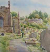 Picture of the Week: <p>Painting in Bradfield Churchyard on a sunny afternoon, listening to the sound of sheep calling the lambs and the cry of the Curlews. The joys of the countryside surrounding Sheffield.</p>