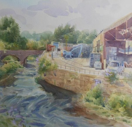 Picture of the Week: <p>The Five Wiers Walk follows the River Don from the City centre, Eastwards towards Rotherham. Factories border the embankments and the buddleia bushes are covered in butterflies,... one landed on my painting.</p>