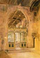 Picture of the Week: <p>St Katherines Chapel is in Sheffield Cathedral, one of a few side chapels with elegant carving on the screen. I first painted in here many years ago and return occasionally. This is an earlier picture.</p>
